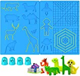 3D Pen Mat Large Multi Patterns Silicone Printing Pen (Upgraded Version) Basic Template Pad 16.8 x 8.2 Inches with 4 Finger Protectors, 3D Pen Drawing Tools for 3D Beginners/Kids/Adults (Large)