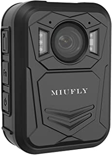MIUFLY 2K Pro Police Body Camera for Law Enforcement with 2 Inch Display, Night Vision, Built in 64G Memory and GPS
