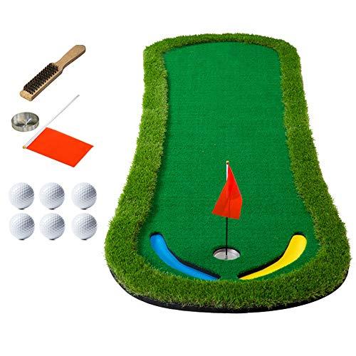 Read About YAOSHIBIAN- Golf Putting Green Mat Portable Golf Court Mini Training Aids - Extra Long Re...