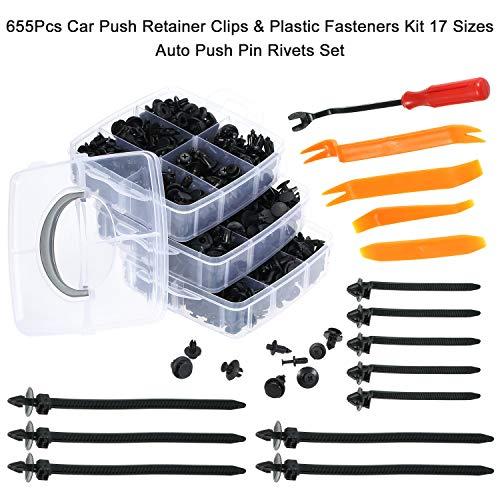 KKmoon Remaches Plástico,Juego de Clips de Retención,Sujetadores de Plástico...