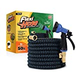 "Flexi Hose Upgraded Expandable Garden Hose, Extra Strength, 3/4"" Solid Brass Fittings"