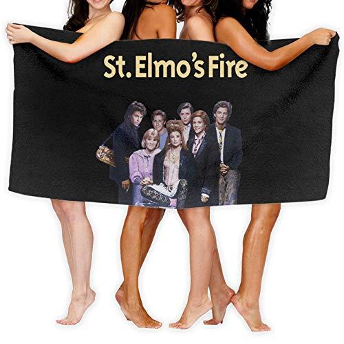 Toallas de playa personalizadas St Elmo's Fire para mujeres, niños, niñas, adultos, hombres.