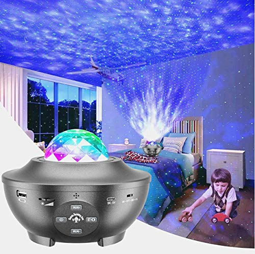 Galaxy Globe Projector Night Lite - by Myriad365, 3 in 1 Starry LED Night Sky Light, Galaxy Projector with Bluetooth Speaker & Remote, Universe Includes Nova, Space, Oasis, w Light Pulse