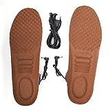 Plantillas calefactadas, plantillas calefactadas para zapatos de invierno Plantillas calefactoras para los pies Alfombrilla calefactora Plantillas para deportes al aire libre(marrón)