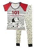 101 Dalmatiner-Schlafanzug '101 Reasons' für Damen Gr. 46, mehrfarbig