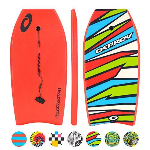 Osprey Unisex Body Board con guinzaglio, Slick Boogie Board e Crescent...