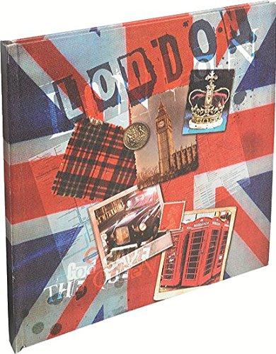 Exacompta 14211E Union Jack spiraalalbum (30 pagina's, ivoor, 25x16 cm)