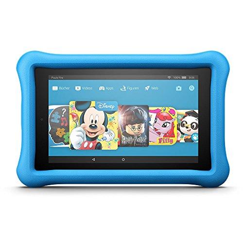 Fire HD 8 Kids Edition-Tablet, 20,3 cm (8 Zoll) HD Display, 32 GB, blaue kindgerechte Hülle (vorherige Generation – 7.)