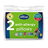 Silentnight Anti-Allergy Pillow Pair,Deluxe with Dupont, White, Anti-Bacterial Pillow Pair