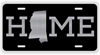 JMM Industries Home Mississippi State MS Vanity Novelty License Plate Tag Metal 6-Inches by 12-Inches Etched Aluminum UV Resistant ELP082