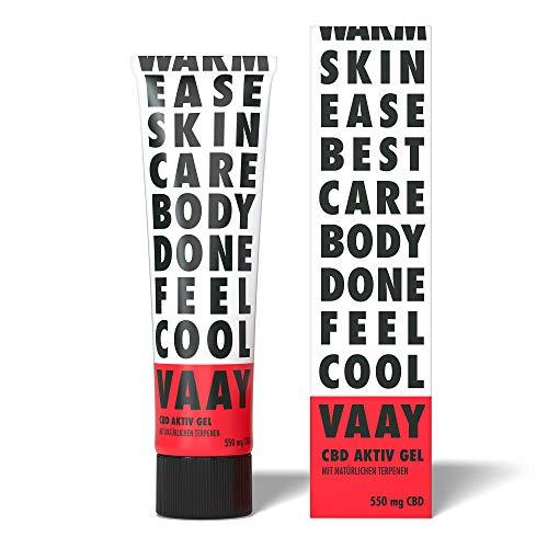 VAAY CBD Aktiv Gel – Sportgel mit 550 mg natürlichem CBD, vegan – 100 ml