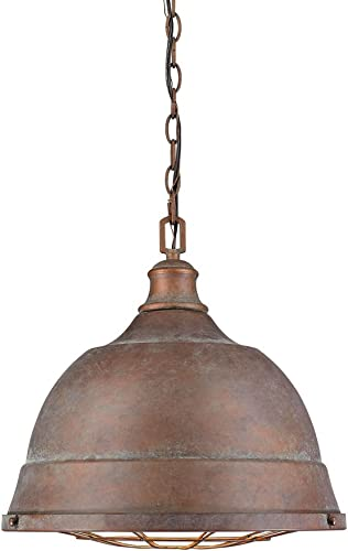 Golden Lighting 7312-L CP Bartlett Pendant, Copper Patina