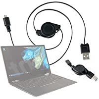 DURAGADGET Cable MicroUSB Retráctil para Portátil ASUS Aspire 5 A515-51G, ASUS K541UA-GO1279T / Lenovo V110-15, Lenovo Yoga 720-15 / MSI GL62M 7RDX-2203XES Pasar Sus Datos Al PC