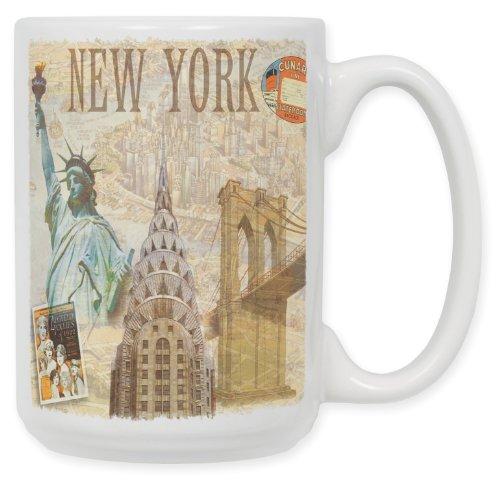 "Art Plates\""New York\"" Kaffeebecher, Keramik, 425 ml"