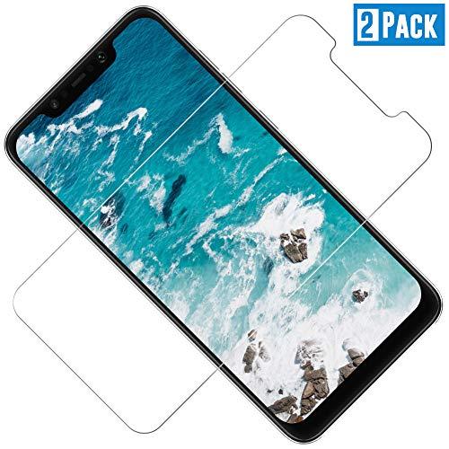 Panzerglas Displayschutzfolie für Xiaomi Pocophone F1, Ultra Dünn HD Transparenz Schutzfolie Anti-Öl, Anti-Kratzer, Blasenfrei , 9H Gehärtetes Glas Displayschutz für Xiaomi Pocophone F1, 2 Stück
