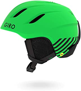 Giro Nine Jr. MIPS Kids Snow Helmet Matte Bright Green Zoom SM 52–55.5cm