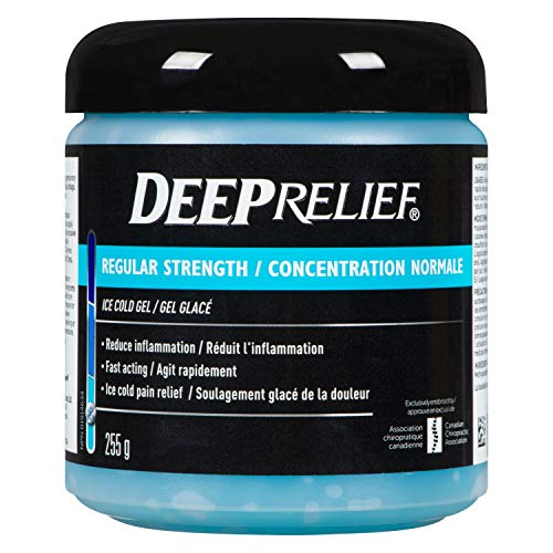 Deep Relief Regular Strength Ice Cold Pain Relief Gel, Reduces Inflammation, 255g