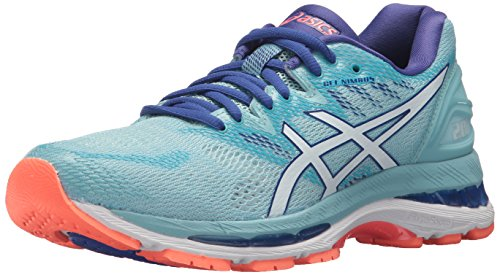 ASICS Women's Gel-Nimbus 20 Running Shoe, porcelain blue/white/asics blue, 6 Medium US