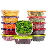 Oursson, Set di Contenitori Alimentari Ermetici Salvafreschezza in plastica Senza BPA, con Coperchio Multicolore, CP6081S/MC (12 x 400 ml, Multicolore)
