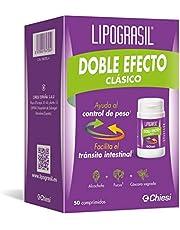 Lipograsil Clásico Doble Efecto ingredientes de origen natural, Tránsito intestinal y control de Peso, 50 Comprimidos