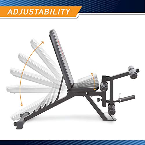 Product Image 6: Marcy Adjustable 6 Position Utility Bench with Leg Developer and High Density Foam Padding SB-350