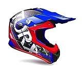 TORX Casque Cross Moto MARVIN EYES, Bleu, Taille XXL