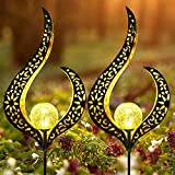 FIOXOO El Nuevo Exquisitos solares Llama Luces, IP55 Jardín de luz Solar Impermeable al Aire Libre para la decoración del jardín (2pcs)