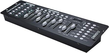 جهاز تحكم DMX512 16CH بشاشة تحكم وإضاءة المسرح من فيست نايت مزود بـ 192 قناة صغيرة DMX512، معدات تشغيل إضاءة للمسرح والحفل...