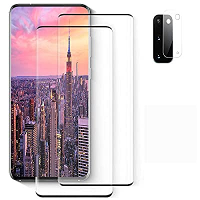 Galaxy S20 Plus Screen Protector, (S20 Plus 5G) 2 Pack 9H Tempered Glass Ultrasonic Fingerprint Compatible, HD Clear, Bubble-Free, Scratch-Resistant for Samsung S20 Plus Glass Screen Protector