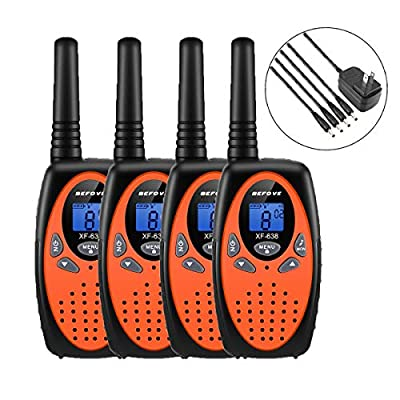 Walkie Talkies, Befove Rechargeable 22 Channel Two Way Radios Long Range Handheld Walkie Talky for Kids Adult by Befove