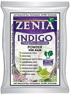 100g Zenia Indigo Powder for Hair 100% Natural Color No Chemical No ppd