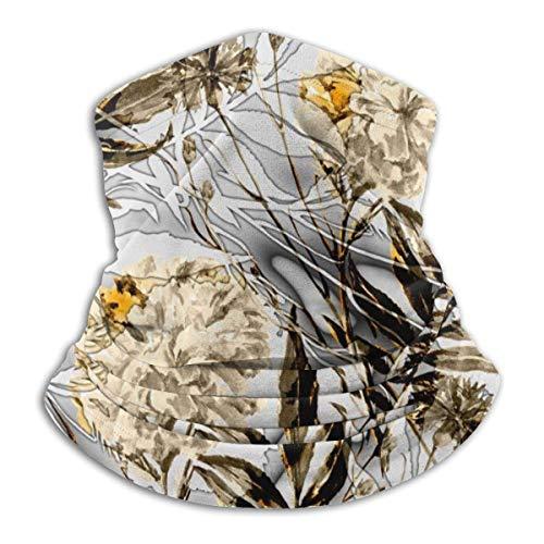 Abstract Ornamental Paint Tile Headwear Neck Gaiter Warmer Winter Ski Tube Scarf Fleece Face Cover Windproof for Men Women Customized