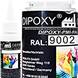 150 g Dipoxy-PMI-RAL 9002 grisáceo extremadamente alta concentrada, pasta de color para resina epoxi, resina de poliéster, sistemas de poliuretano, hormigón, barnices, pintura líquida para joyas…