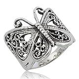 Lovely Thai de mariposa anillo 925 de plata de ley perfectamente tamaño UK=R us=9