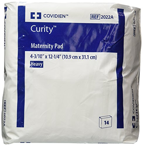 """Covidien Curity Maternity Pad Heavy 4.33"""" x 12.25"""" (Bag of 14 Pads)"""