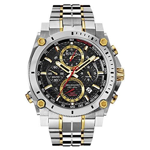 Relógio masculino Bulova 98B228 Precisionist com mostrador analógico de quartzo japonês em dois tons