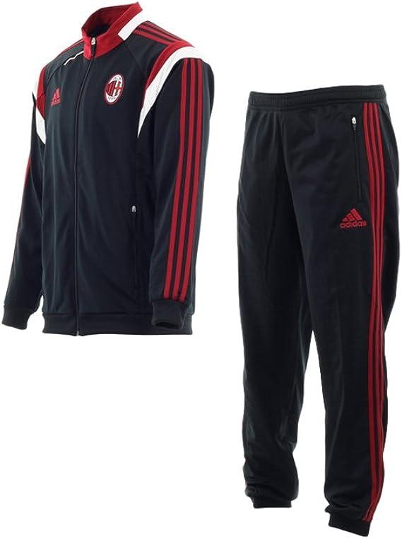 Tuta Allenamento AC Adulto Bianco Nero E Rosso 14/15 Milan Adidas
