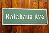【ハワイアン雑貨】ハワイアン ウッド ストリートサイン - kalakaua Ave ☆ハワイ 雑貨☆ハワイアン インテリア