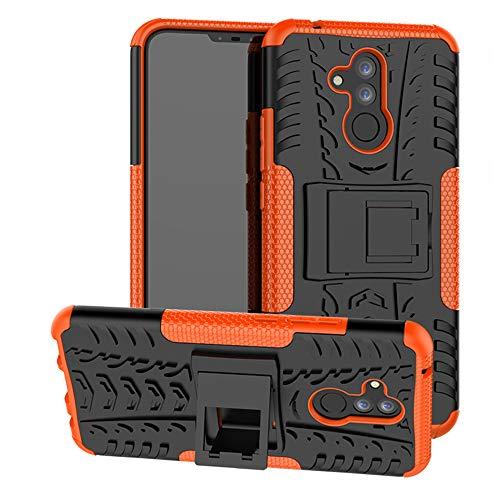 Labanema Huawei Mate 20 Lite Funda, [Heavy Duty] [Doble Capa] [Protección Pesada] Híbrida Resistente Funda Protectora y Robusta para Huawei Mate 20 Lite (con 4 en 1 Regalo empaquetado) - Naranja
