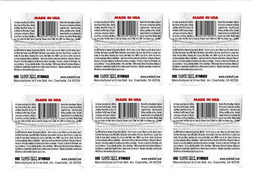 ERNIE BALL SIX PACK OF CUSTOM GAUGE 9 --1009 -- (P01009) --.009 Plain Steel -- 6 pack of strings