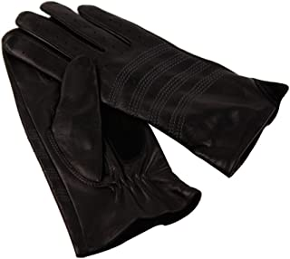 Fly® Ladies Winter Driving Skid-Resistant Leather Gloves, Thin Wool Lining (Color : Black)