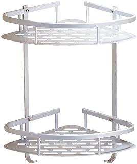 Bathroom Shower Shelves, 2-Tier Rust-Proof Aluminum Alloy Anodised Bathroom Shower Caddy Corner Shelf Storage Basket Wall ...