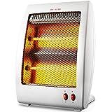 FCWMD Riscaldatore alogeno Tubo Riscaldatore Elettrico Spaziale al Quarzo Riscaldamento Portatile Protezione antiribaltamento Regolabile per Vento Caldo (450W/900W 2 Bar),Bianco