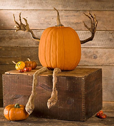 Plow & Hearth 65A44 Pumpkin Vine Arms and Legs Indoor Outdoor Halloween Decoration, 16.5' x 2.5'