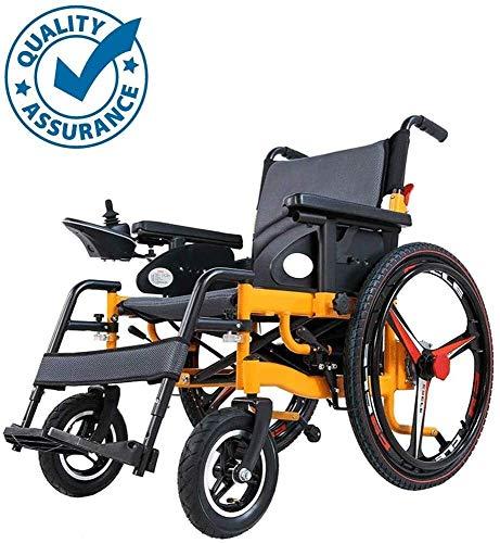 Sterk en moedig Draagbaar en lichtgewicht hoogwaardige elektrische rolstoelen, aluminium compact ontwerp, opvouwbaar en lichtgewicht dual batterij dual-motor vliegtuigen opvouwbare elektrische rolstoe
