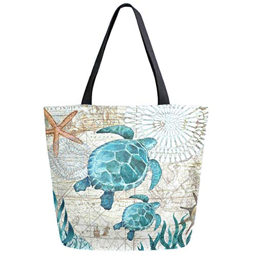ZzWwR Beautiful Paisley Floral Pattern Extra Large Canvas Shoulder Tote Top Storage Handle Bag for Gym Beach Weekender Travel Shopping