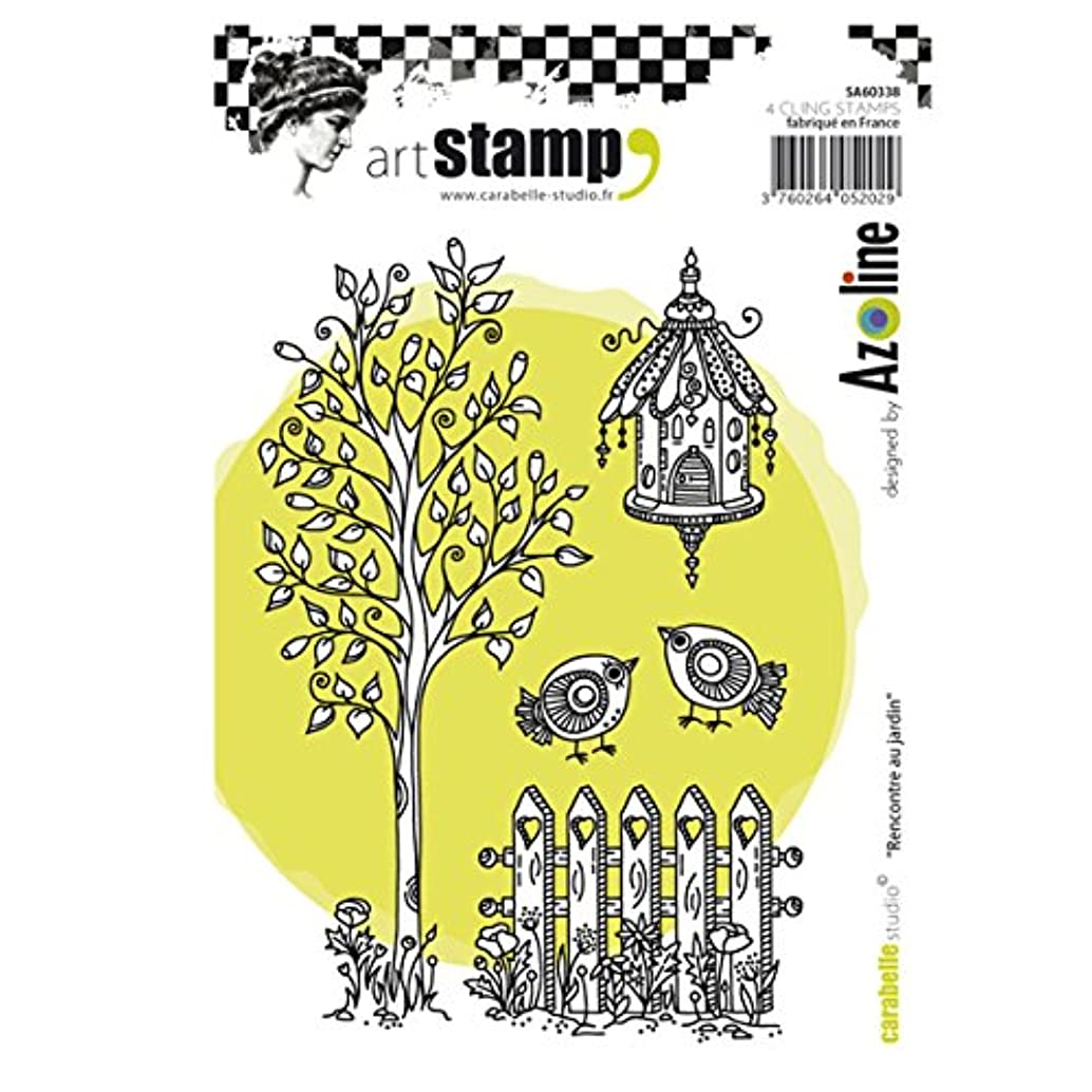 Carabelle Studio Meeting in The Garden Cling Stamp A6 by Azoline