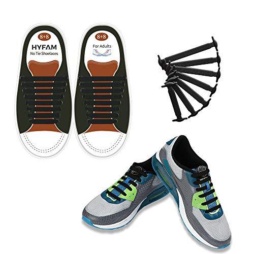 HYFAM Elastische Schnürsenkel für Erwachsener Keine Krawatte Schnürsenkel Wasserdicht Stretchy Silikon Tieless Schnürsenkel für Turnschuhe Board Schuhe Freizeitschuhe