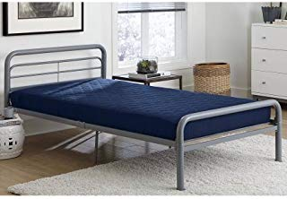 """Dorel Home 6"""" Twin Quilted Mattress, Navy"""