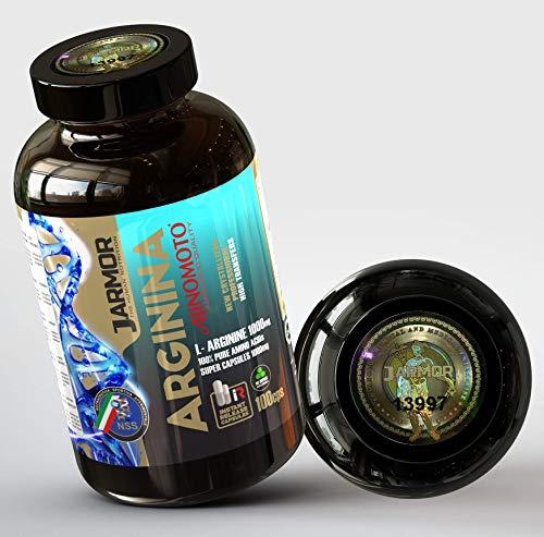 L Arginina Ajinomoto® Professional Integratore Pillole 3000 mg per dose | 100 Capsule da 1000 mg | Aminoacido Puro Massa Muscolare e Vigore | Azione Duratura Immediata Boost Citrullina